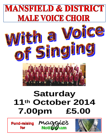 Mansfield & Dist Male Voice Choir Poster